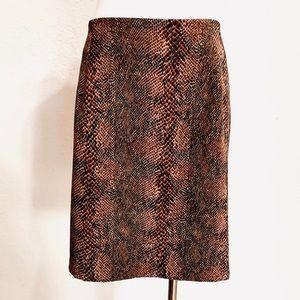 Vintage Briggs Reptile Print Skirt Python Snake